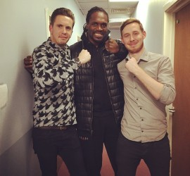 Harry & Andy with Audley Harrison
