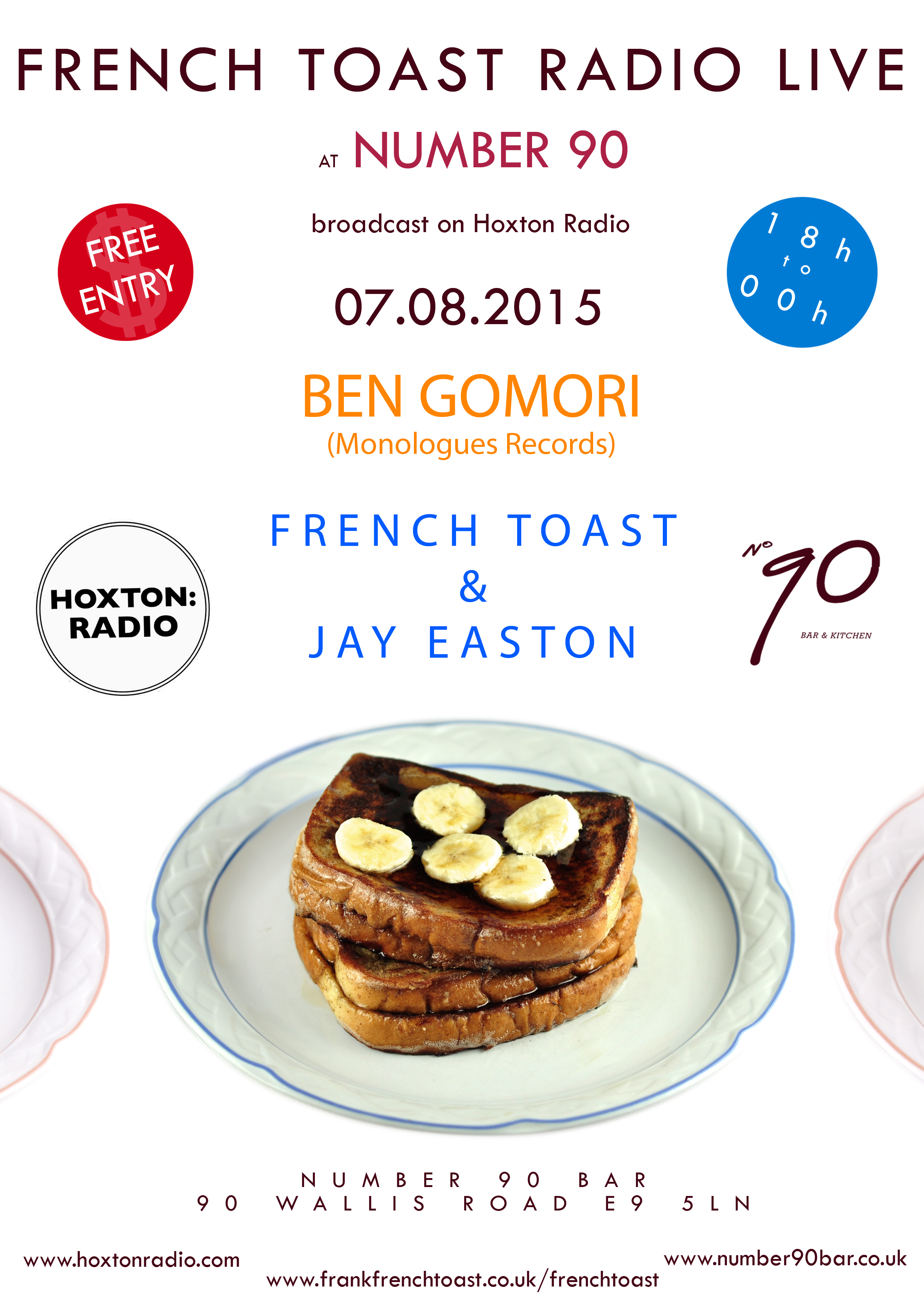 French Toast live at Number 90 Bar & Kitchen - Hoxton Radio